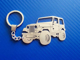 Jeep Wrangler model key chain
