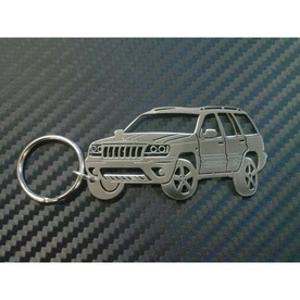 Unique keychain made the shape of a Jeep Grand Cherokee