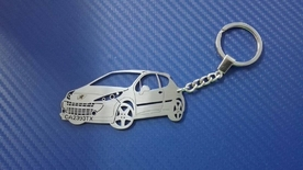 Unique keychain Peugeot 207