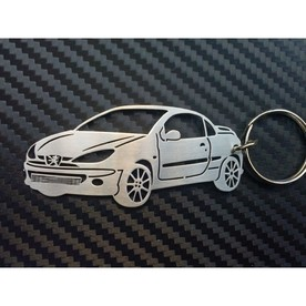 Keychain shaped Peugeot 206 CC