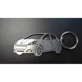 Unique keychain made in the shape of Peugeot 208
