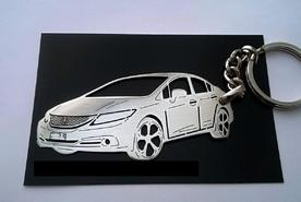 Unique keychain made in the shape of Honda Civic Si sedan