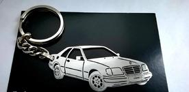 Custom keychain for Mercedes W124 coupe