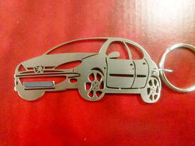 Peugeot 206 4 door design key chain