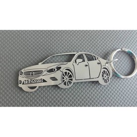 Keychain in the shape of Mazda 6