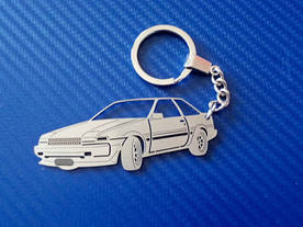 Key chain with Toyota Corolla 85 design