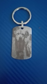 Pendant for dog with engraved photo