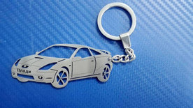 Unique keychain made in the shape of Toyota Selica